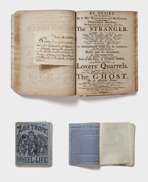 Photograph of antique books