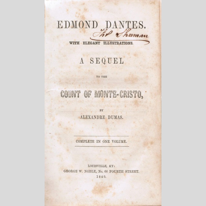 The Count of Monte Cristo, in Kentucky