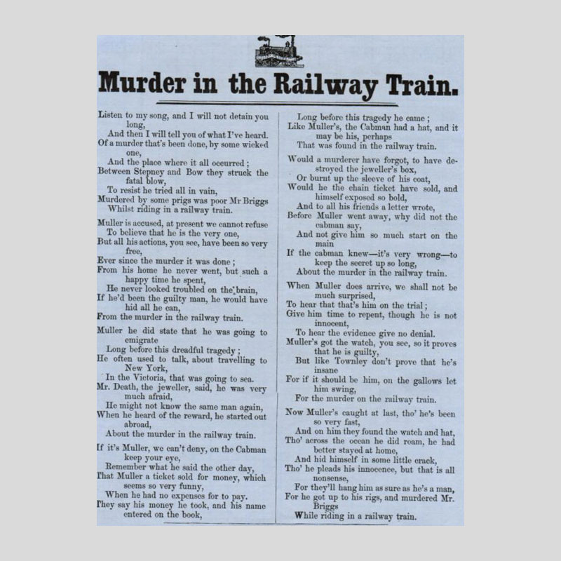 Off the rails: the first murder on a British train