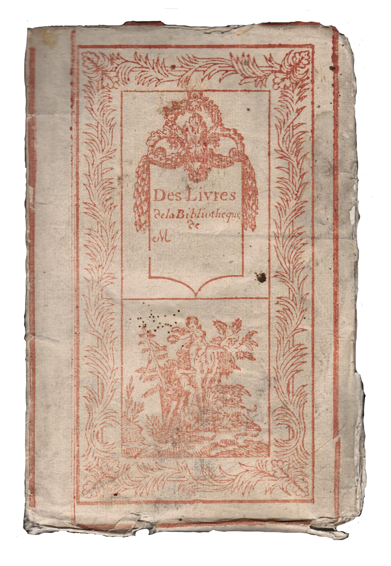 The first 'blank bookplate'?