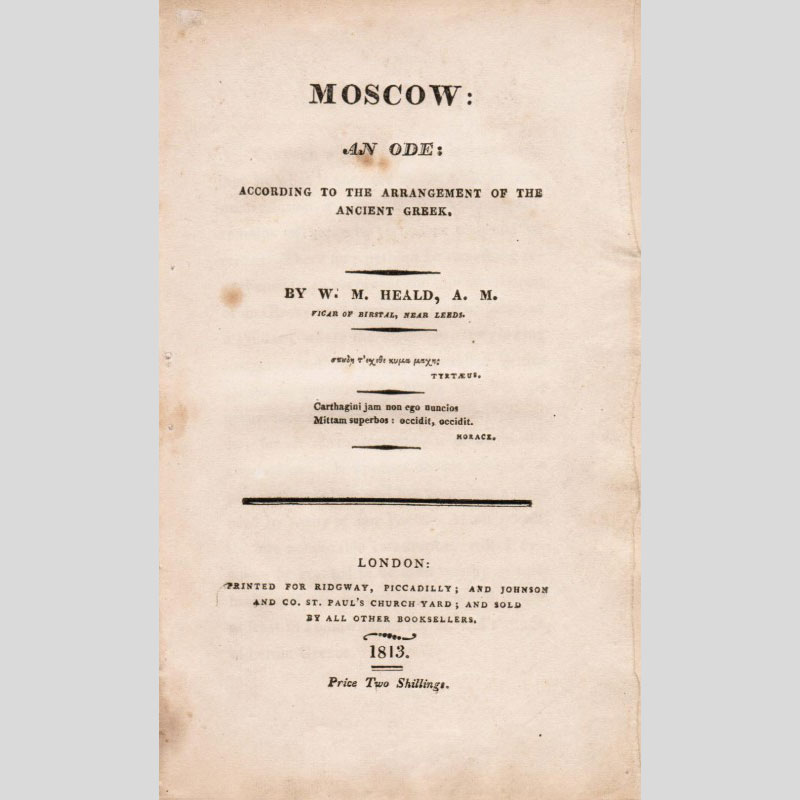 Moscow: an Ode