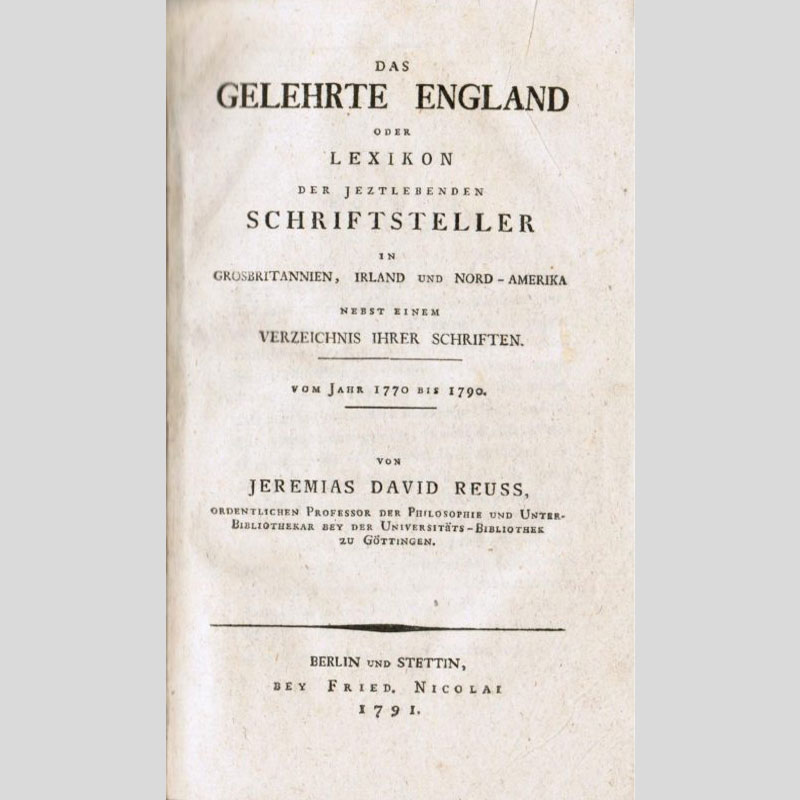 The first bibliography of 18th-century English literature